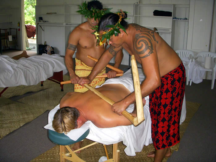 lomi lomi stick massage at Makapala Christian Retreat Center