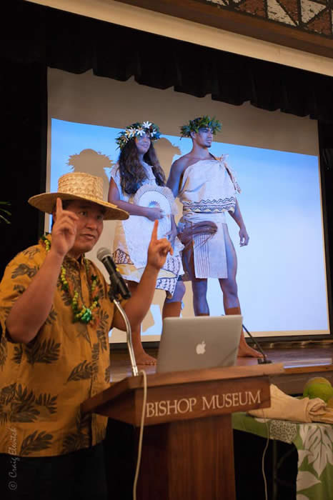 Uncle Wes lecturing at Bishop Museum